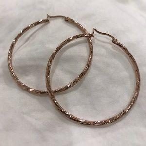 NEW ROSE GOLD Argentines Vivo Hoop Earrings!